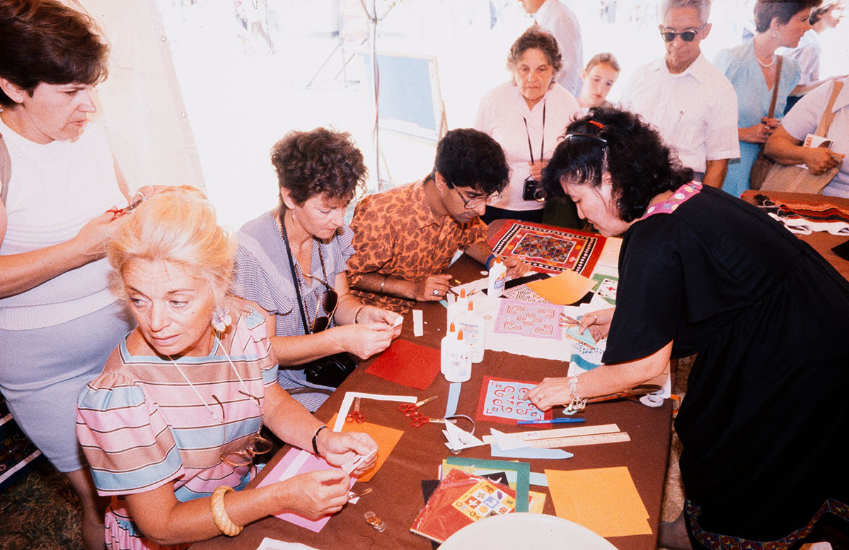 Photo from the 1986 Festival of American Folklife