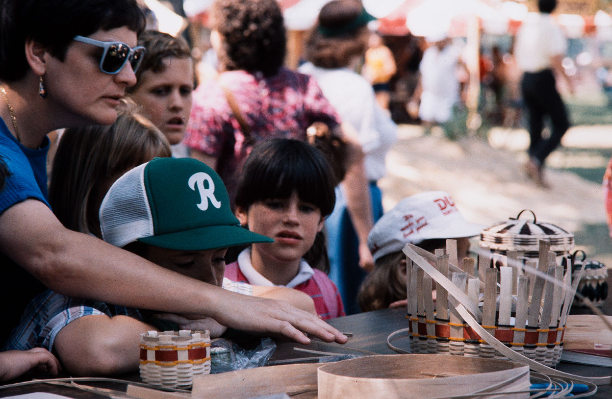 Photo from the 1987 Festival of American Folklife